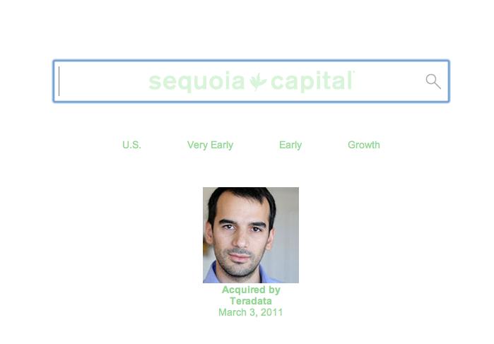 Η ιστοσελίδα της Sequoia Capital, σήμερα